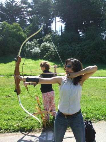 Woman archer, not me unfortunately