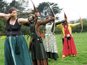 We're comfortable making our own period garb.  Functional weaponry, not so much.